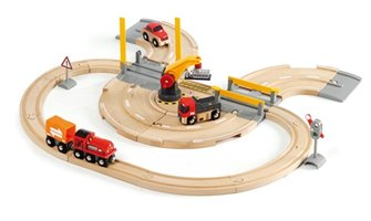 BRIO WORLD - Rail & Road Crane Set