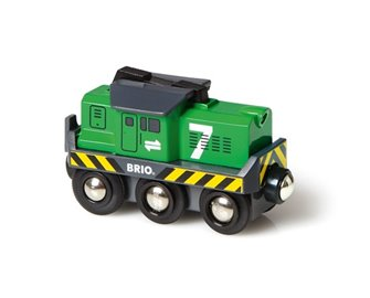 BRIO WORLD - Battery Powered Freight Engine
