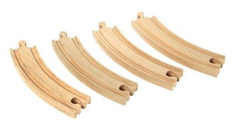 BRIO WORLD - Large Curved Tracks for Railway