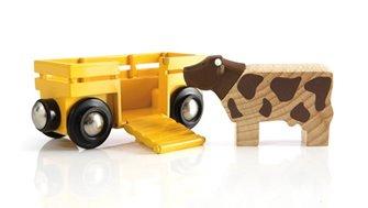 BRIO WORLD - Cow & Wagon