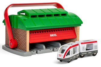 BRIO World - Train Garage with Handle