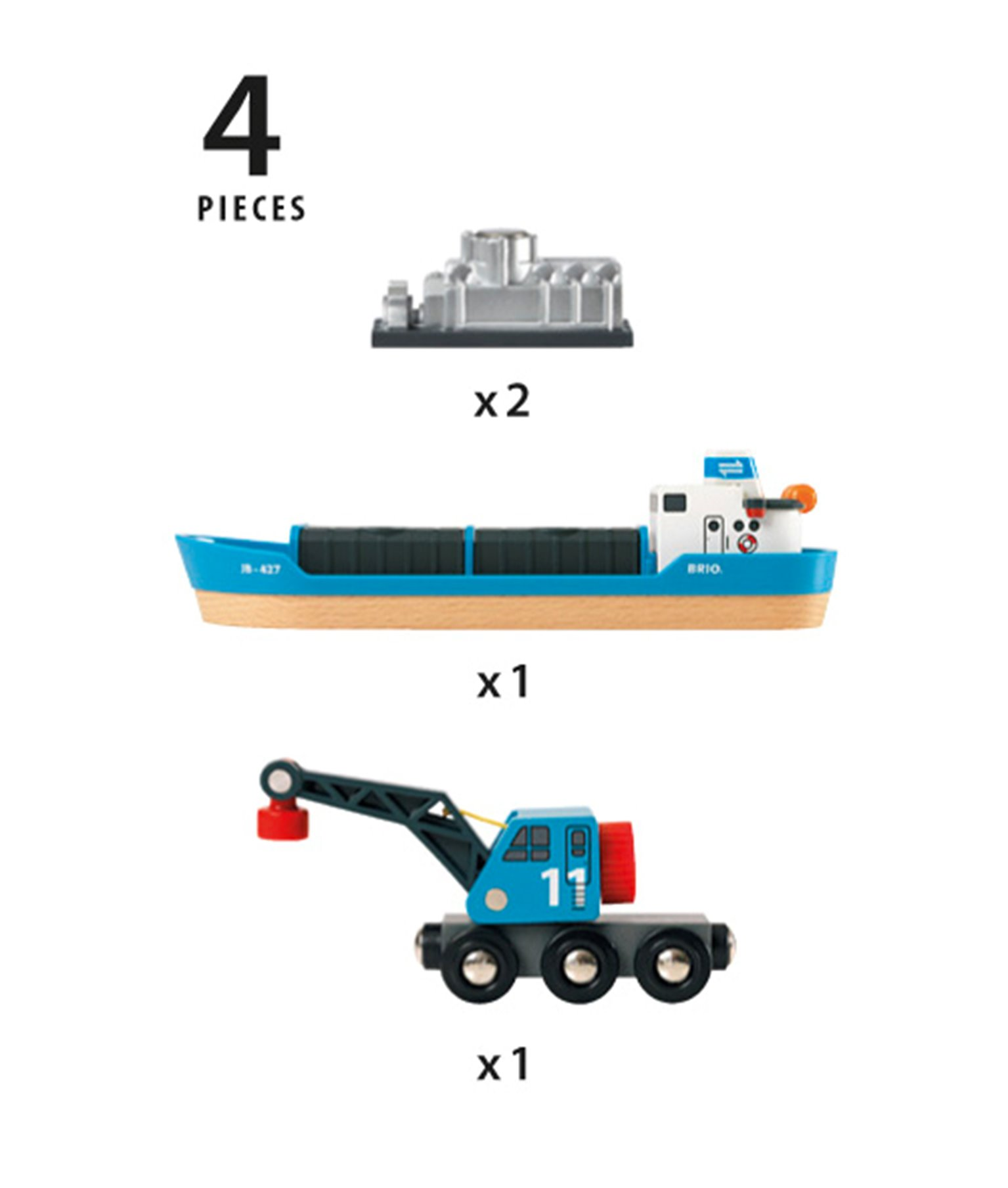 BRIO WORLD - Freight Ship and Crane