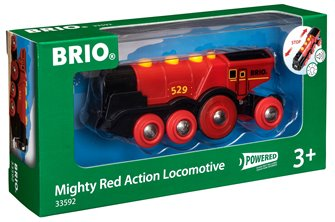 BRIO World - Mighty Red Action Locomotive