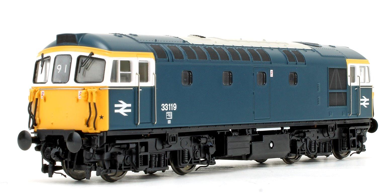 Class 33 119 BR Blue (white cab window surrounds) Diesel Locomotive