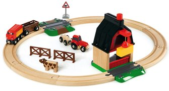 BRIO World - Farm Railway Set