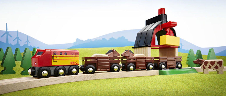 BRIO World - Farm Railway Set