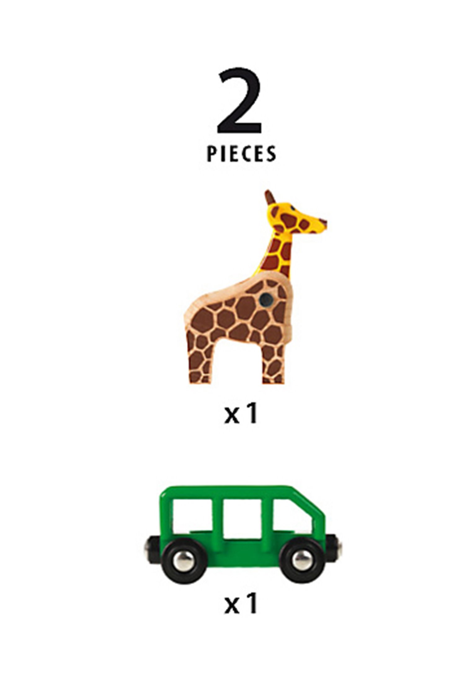BRIO WORLD - Giraffe and Wagon for Railway