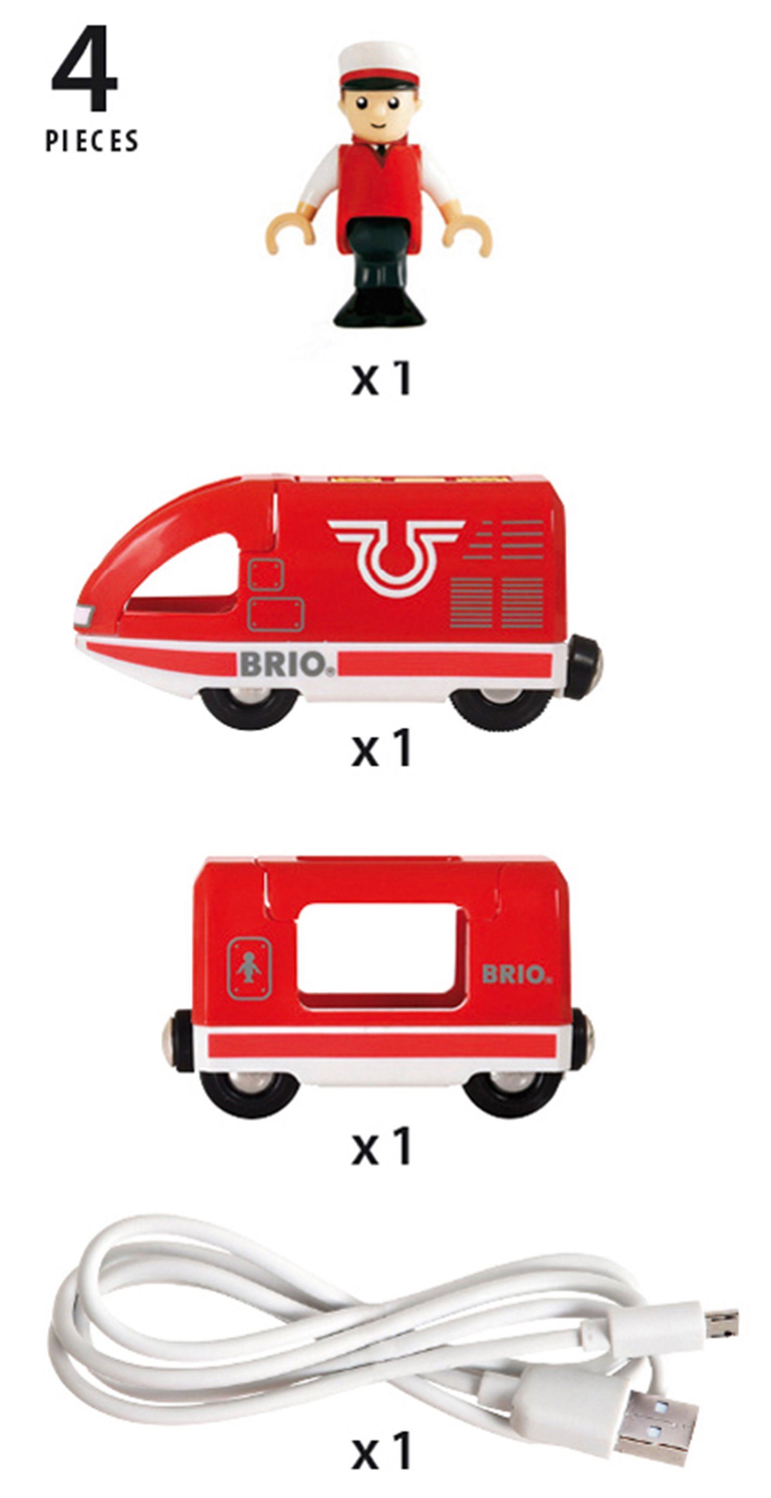 BRIO World - Travel Rechargeable Train