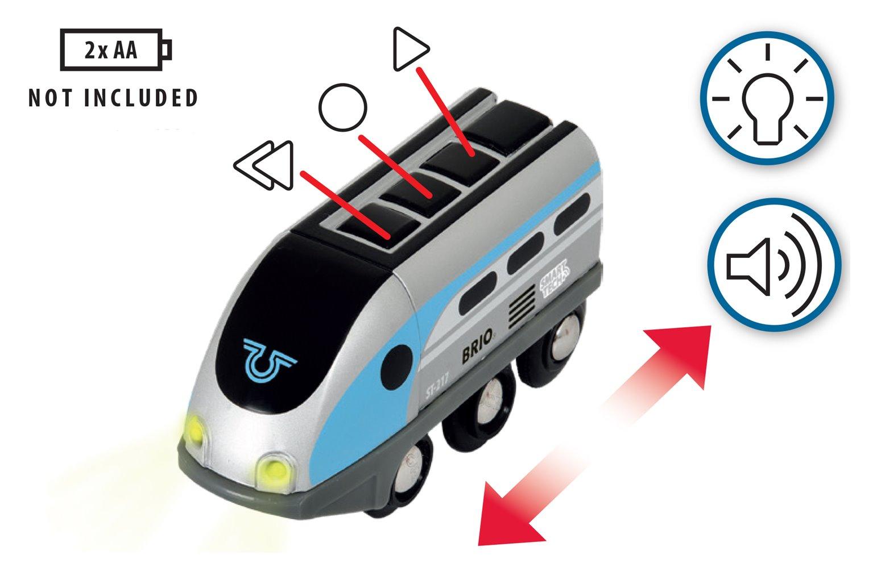 BRIO World - Smart Tech Railway - Engine with Action Tunnels