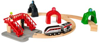 BRIO World - Smart Tech Railway - Engine Set With Action Tunnels