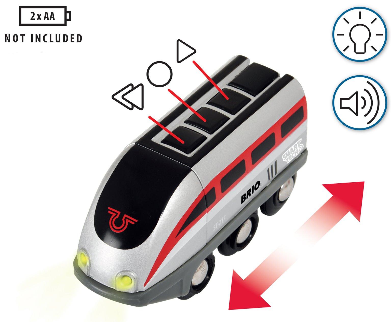 BRIO World - Smart Tech Railway - Engine Set With Action Tunnels