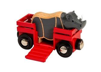 BRIO WORLD - Rhino & Wagon