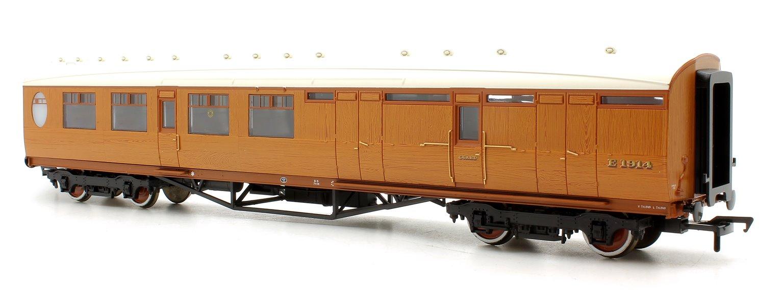 Thompson 3rd Class Brake Corridor LNER Teak E1914