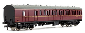 BR MK1 Suburban Second Brake BR Lined Maroon Coach No.M43301