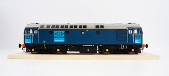 BRCW Type / Class 33 Bo-Bo Diesel (Version 3) DRS blue unnumbered
