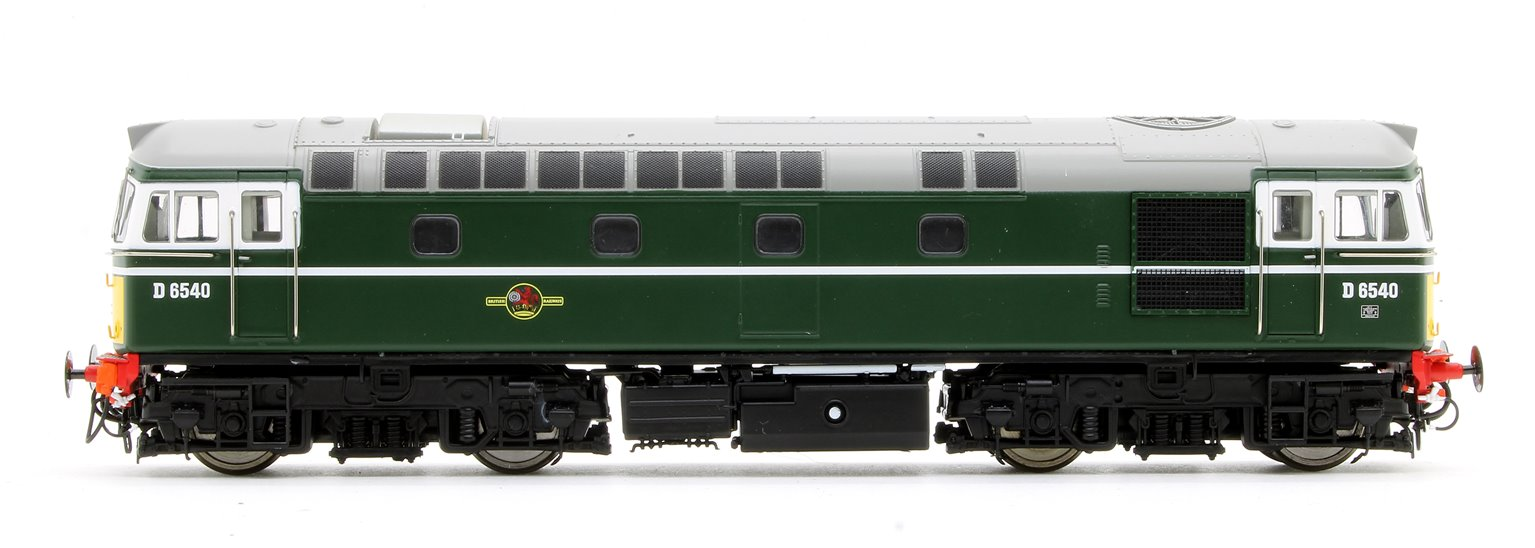 Class 33/0 'Crompton' D6540 in BR Green with Small Yellow Ends (Early Exhaust)