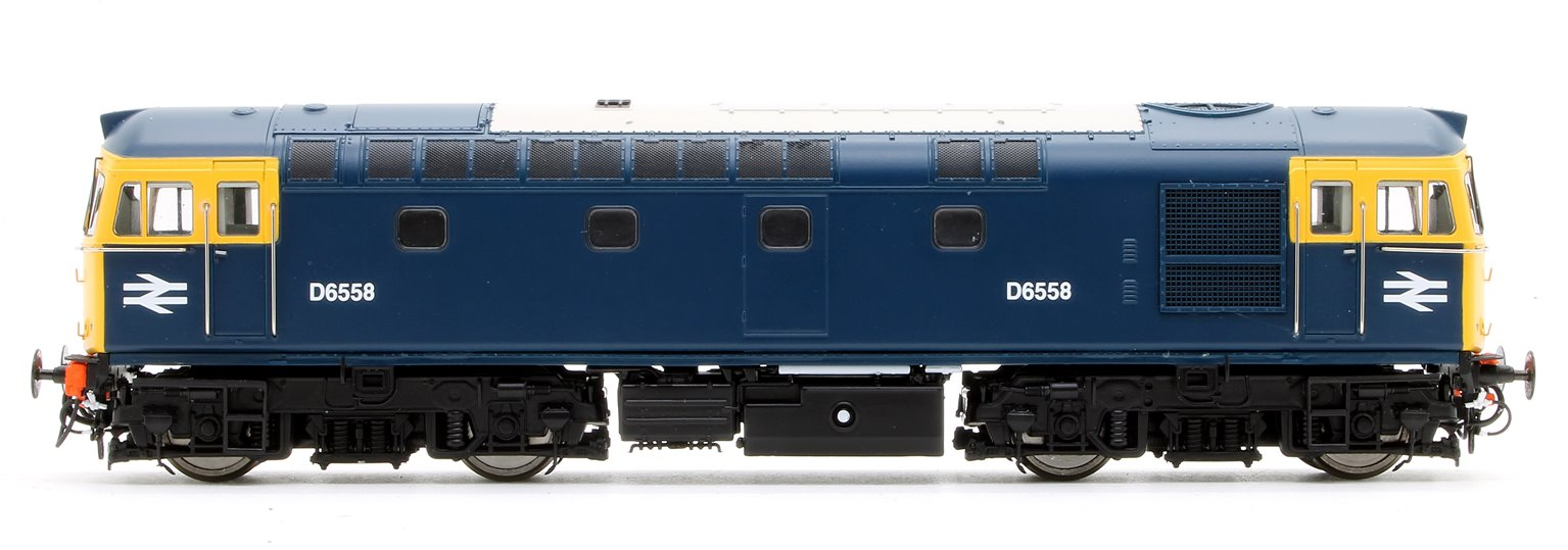Class 33/0 'Crompton' D6558 in BR Blue with Full Yellow Ends (Later Exhaust)