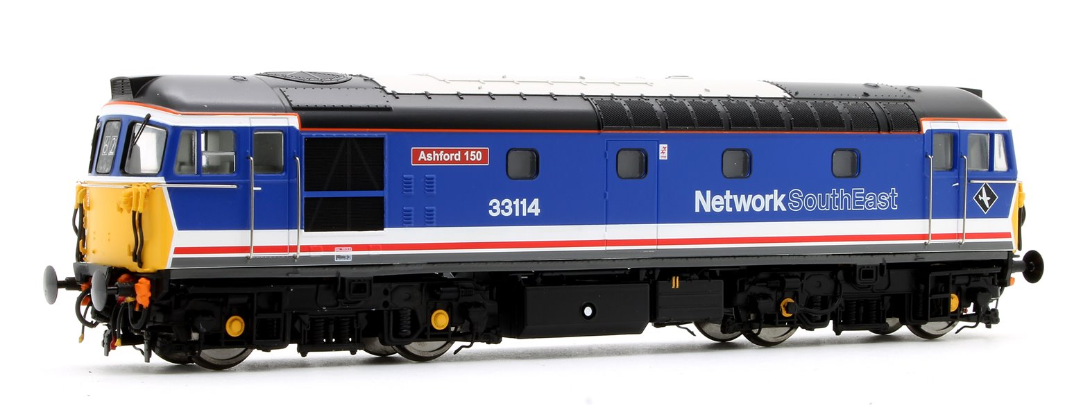 Class 33/1 'Crompton' 33114 in Network SouthEast (Push-Pull)