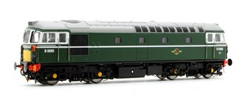 Class 33/1 'Crompton' D6580 in BR Green with Small Yellow Panels (Push-Pull)