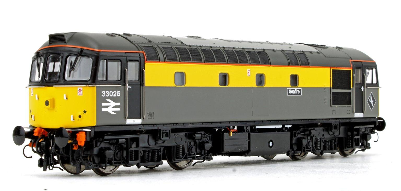 Class 33 026 'Seafire' BR Civil Engineers Grey/Yellow Diesel Locomotive