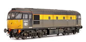 Class 33 026 'Seafire' BR Civil Engineers Grey/Yellow Diesel Locomotive (Weathered)