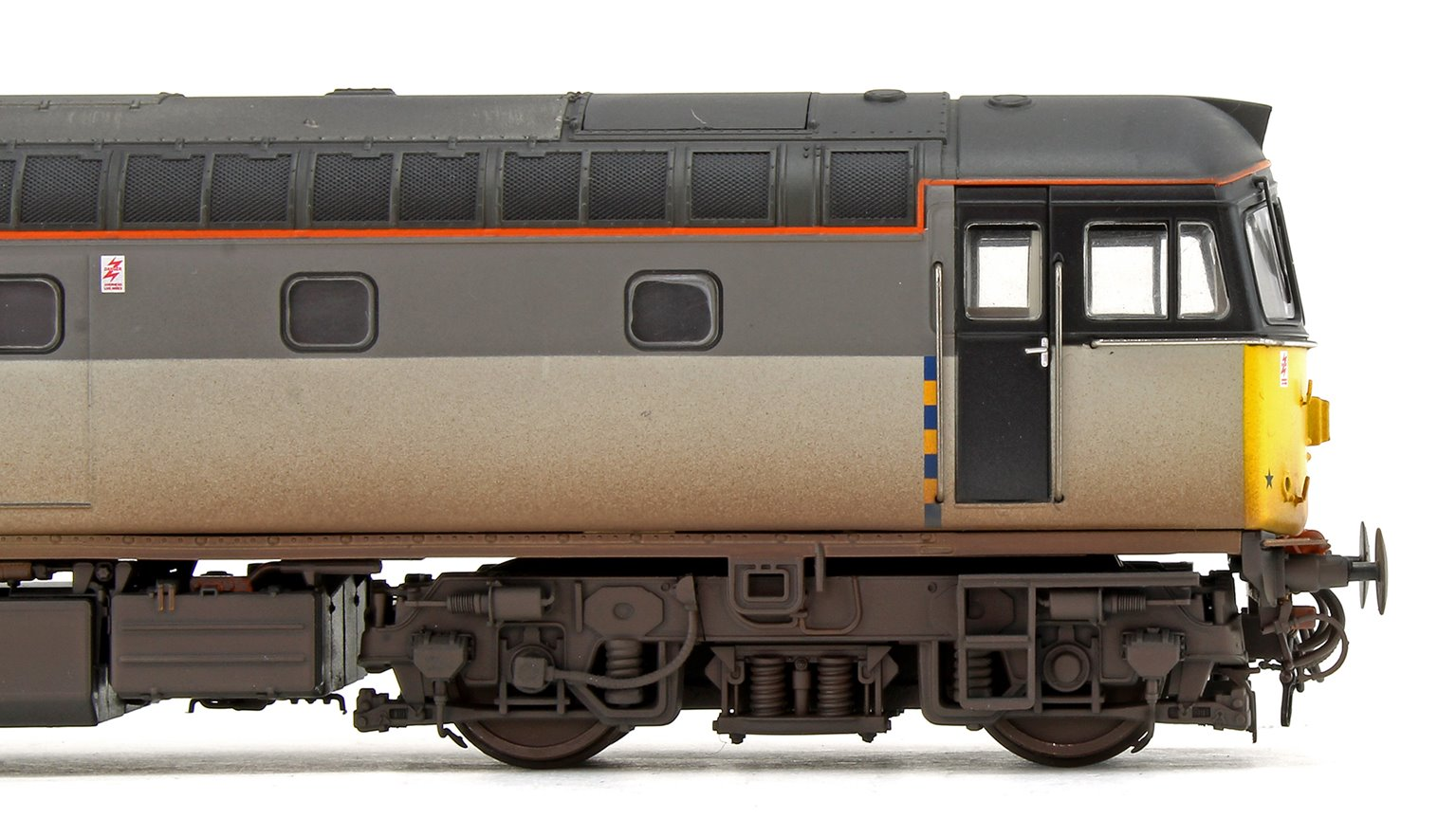 Class 33 042 Railfreight Construction Diesel Locomotive (Weathered & Faded)