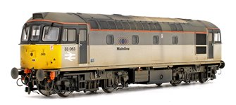 Class 33 063 Mainline Grey Diesel Locomotive (Weathered)