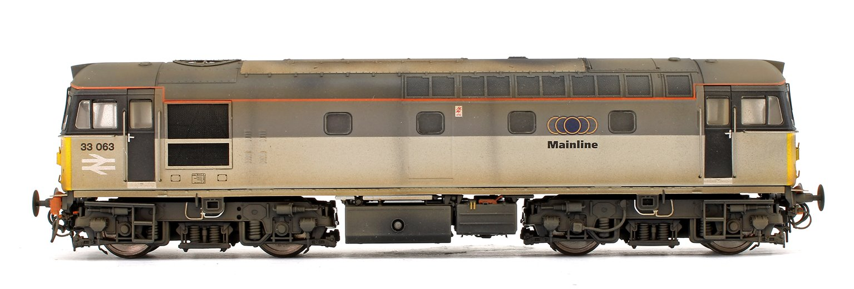 Class 33 063 Mainline Grey Diesel Locomotive (Weathered)