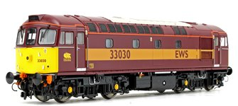 Class 33 030 EWS Red/Gold Diesel Locomotive