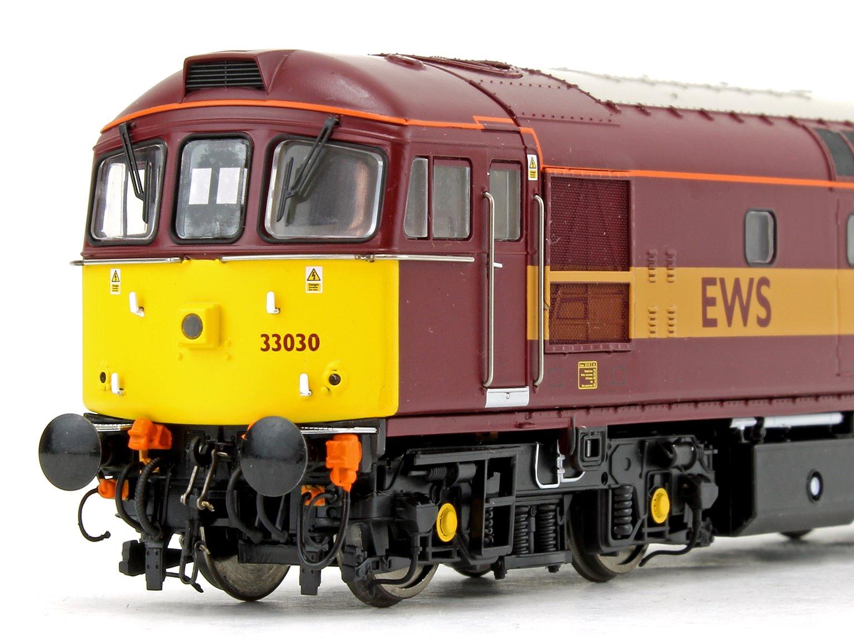Class 33 030 EWS Red/Gold Diesel Locomotive