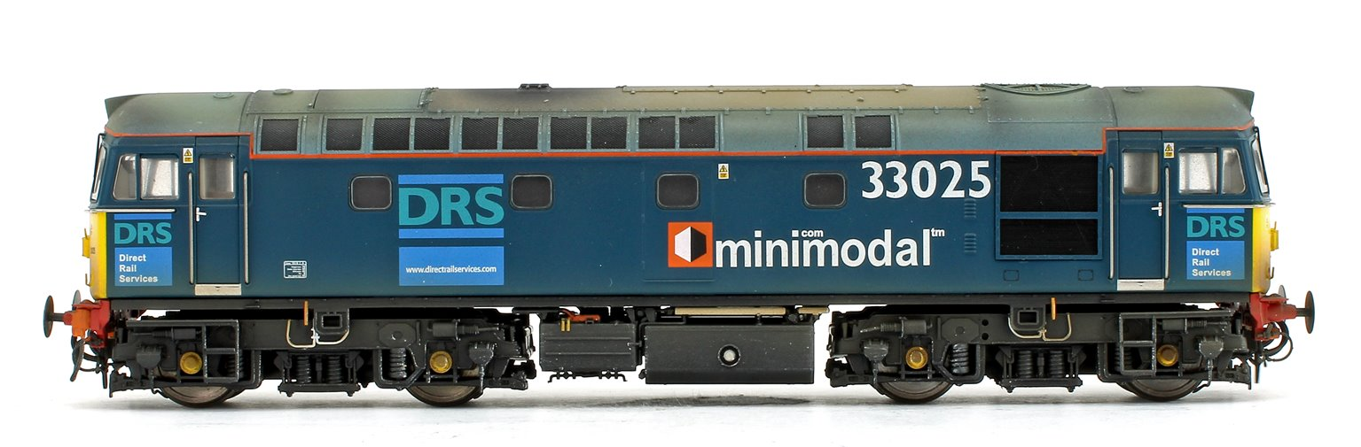 Class 33/0 V3 (33025 + 33030) DRS Minimodal Locomotive Twin Pack Weathered Edition