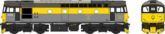 Class 33 Civil Engineers grey/yellow 33025 WEATHERED