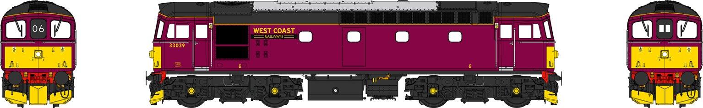 Class 33 029 West Coast Railways Maroon Diesel Locomotive (Weathered)