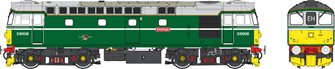 Class 33 BR retro green D6508 Eastleigh (small yellow panels)