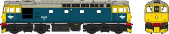 Class 33 BR blue 33023 (grey roof/orange cantrail line) WEATHERED