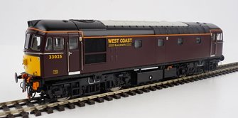 Class 33 West Coast Railways red 33025