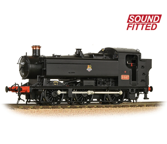 GWR 94XX Pannier Tank 9487 BR Black (Early Emblem) Tank Locomotive DCC Sound