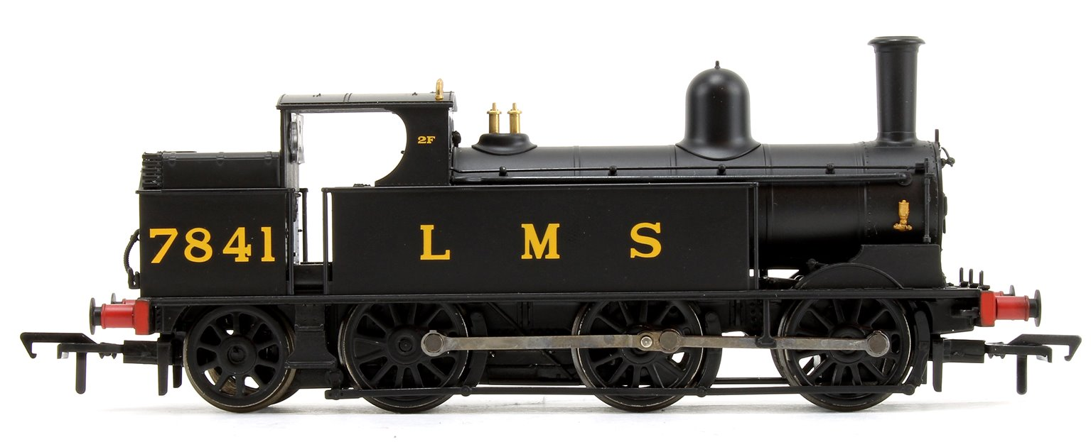 LNWR Webb Coal Tank in LMS Black Locomotive 0-6-2 Tank Locomotive No.7841
