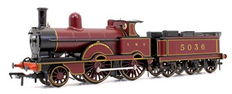 LNWR Improved Precedent Class 'Novelty' LMS Crimson Lake 2-4-0 Steam Locomotive No.5036