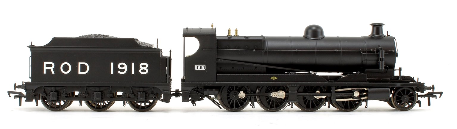 Railway Operating Division (ROD) 2-8-0 Steam Locomotive No. 1918 in War Department Black livery