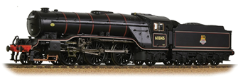 Class V2 No. 60845 in BR Lined Black livery with Early Emblem
