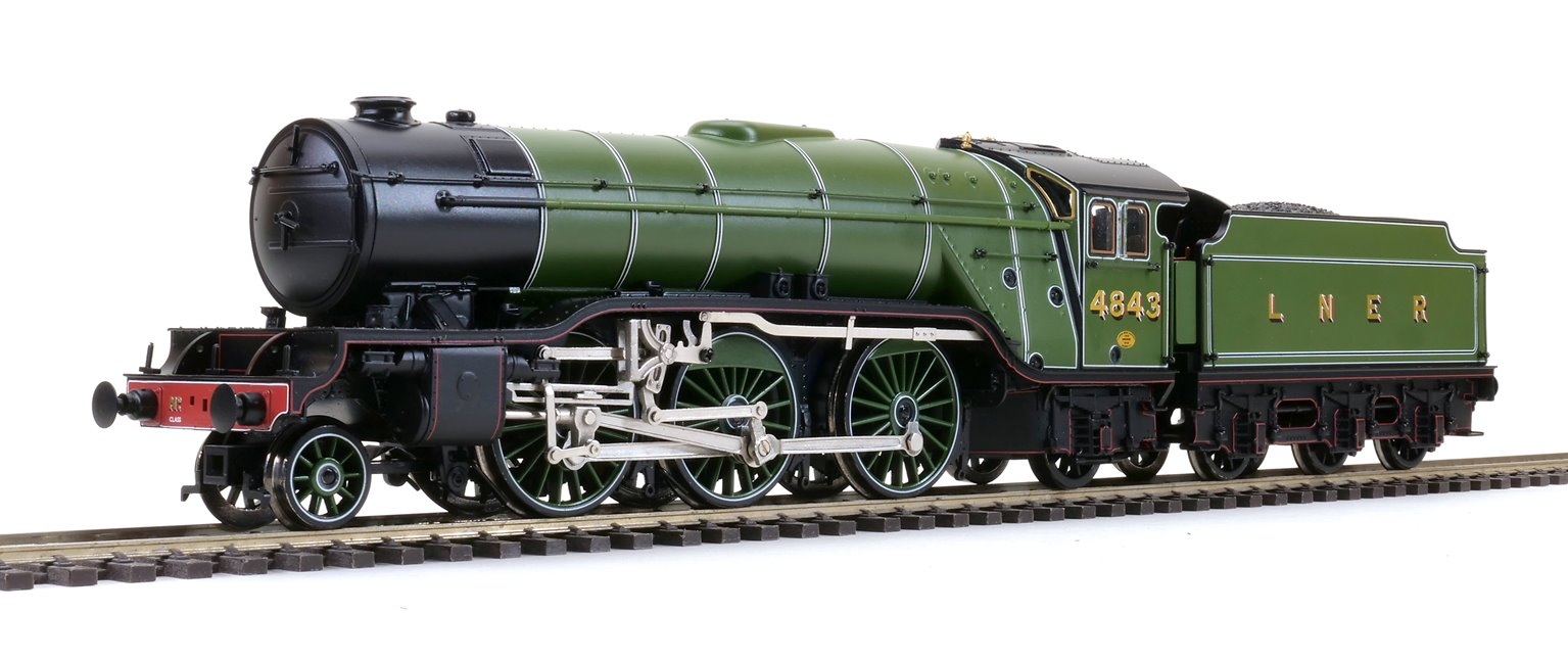 'Kings Own Yorkshire Light Infantry' LNER Lined Green (Doncaster) Class V2 2-6-2 Steam Locomotive No.4843