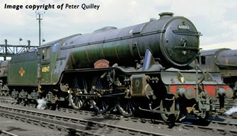 Class V2 No. 60847 'St Peter's School' in BR Lined Green livery with Late Crest