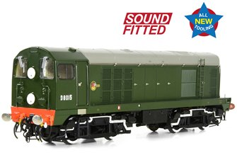 Class 20/0 Disc Headcode D8015 BR Green (Late Crest) Diesel Locomotive (DCC Sound)
