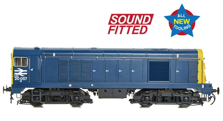 Class 20/0 Disc Headcode 20057 BR Blue Diesel Locomotive (DCC Sound)