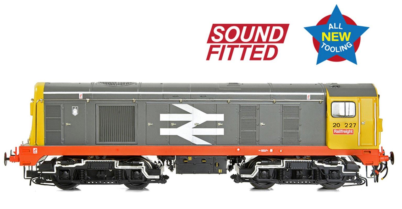 Class 20/0 Headcode Box 20227 BR Railfreight (Red Stripe) Diesel Locomotive (DCC Sound)