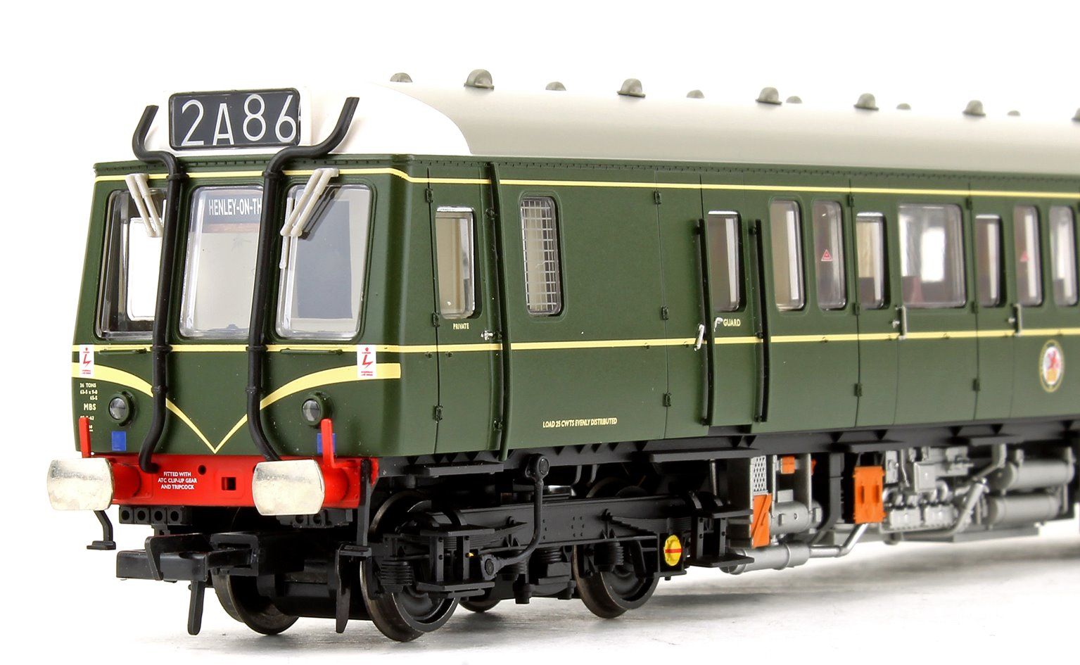 Class 121 Single-Car DMU BR Green (Speed Whiskers) Locomotive (DCC Sound)