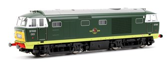 Class 35 Hymek BR Green (small yellow warning panels) D7088 Locomotive