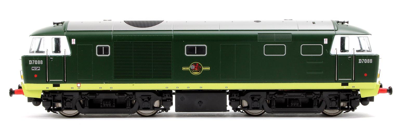 Class 35 Hymek BR Green (small yellow warning panels) D7088 Locomotive