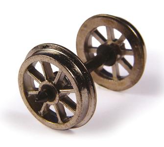 Metal Spoked Wagon Wheels (x10)